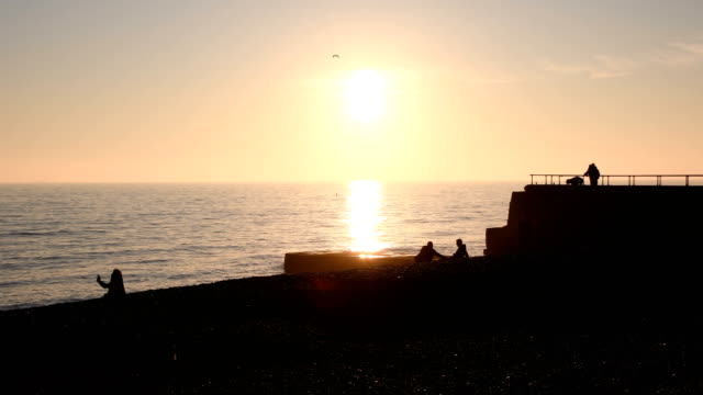 Sunset on Brighton beach video