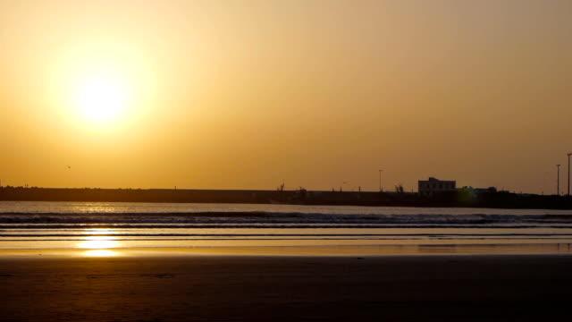 sunset on Essaouira beach video