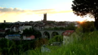 sunset on Fribourg video