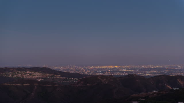 Sunset on LA from Malibu 4K TIME LAPSE video
