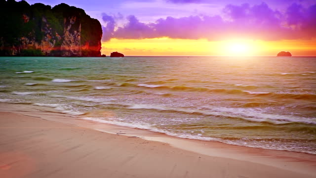 Sunset on Krabi. video