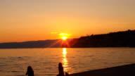 Sunset on Ohrid Lake video