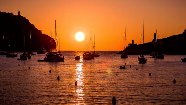 Sunset on Port de Sóller video