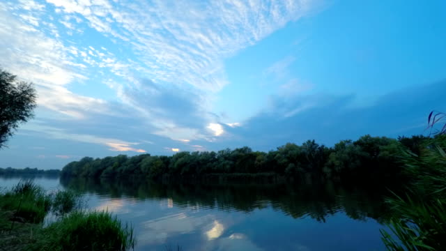 Sunset on River Water. video