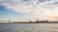 Sunset on San Francisco and Bay Bridge 4K TIME LAPSE video