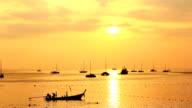 Sunset on sea video