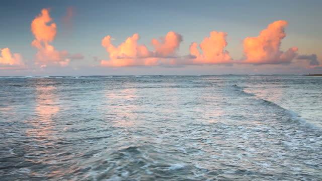 sunset on the napali coast, kaui, hawaii video