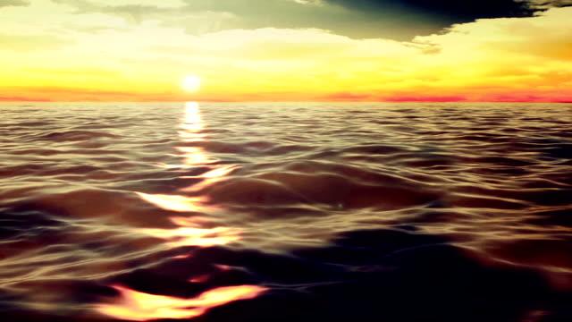 Sunset on the ocean video