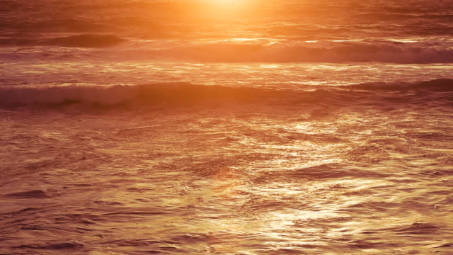 Sunset on the Ocean Waves video