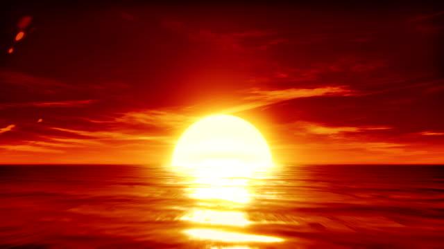 Sunset on the sea video