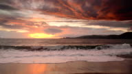 Sunset over Bakers Beach in San Francisco, California, USA video