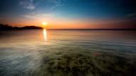 Sunset over calm Sea video