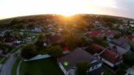 Sunset over homes in Florida video