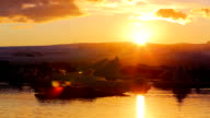 Sunset over Icebergs video