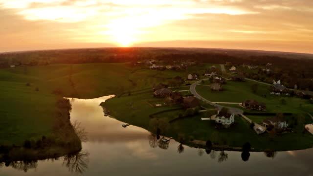 Sunset over Kentucky countryside video