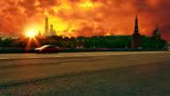 Sunset over Kremlin video