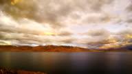 Sunset over Lake Tso Moriri video