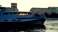 Sunset over Moscva river in Moscow video