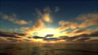 sunset over ocean video