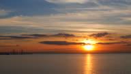 Sunset over Oresund Baltic Sea video