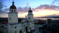 Sunset over Santiago De Cuba video