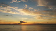 Sunset over the Atlantic ocean, HD time lapse clip. video