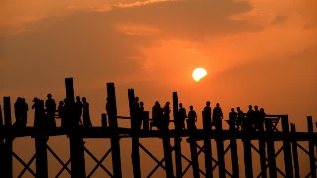 Sunset over the bridge video