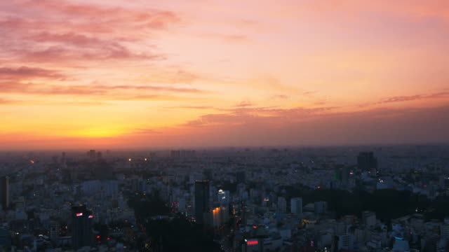 Sunset over the city of Ho Chi Minh / Saigon, Vietnam video