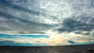 Sunset over the Gulf of Finland video