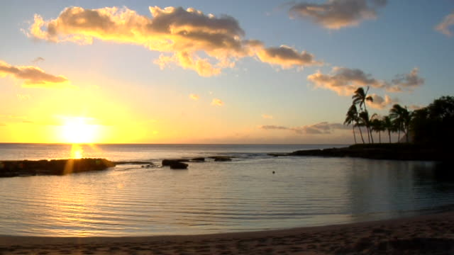 HD: Sunset over the horizon video