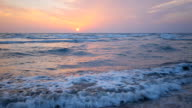 Sunset over the Mediterranean Sea video