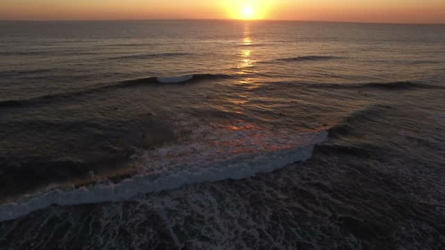 Sunset Over The Ocean video