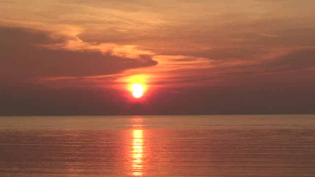 Sunset over the Pacific Ocean video