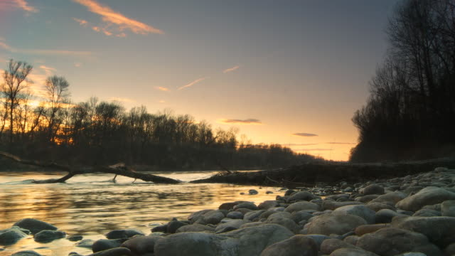 HD TIME LAPSE: Sunset Over The River video