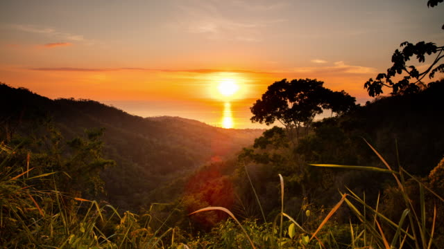 T/L Sunset over the sea in Costa Rica video