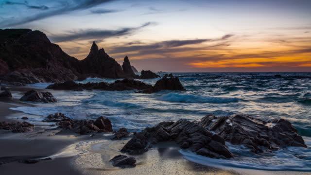 Sunset over the Sea , Sardinia - Italy video
