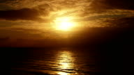 Sunset over the sea video