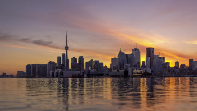 Sunset Over Toronto video
