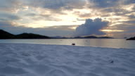 Sunset panoramic video of Trunk Bay, St John video