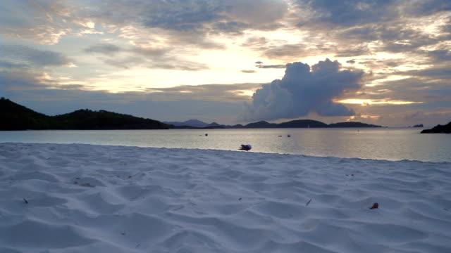 Sunset panoramic video of Trunk Bay, St John video