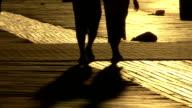 Sunset pedestrians video