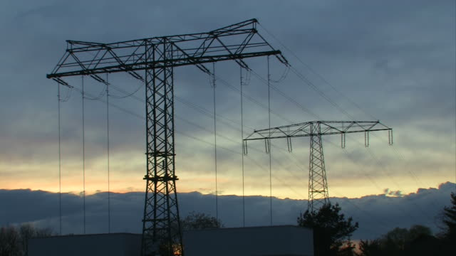 Sunset pylons - High Voltage video