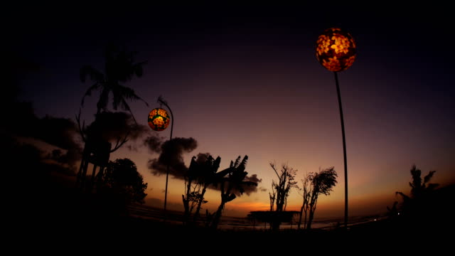 Sunset Restaurant Bali 4k video