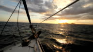 sunset sail into cabo video