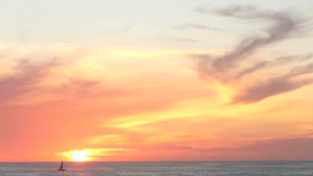 Sunset Sailboat video