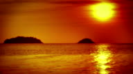 Sunset, sea and islands video