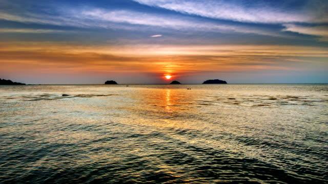 Sunset, sea, island video