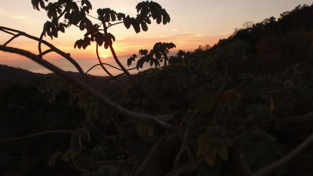AERIAL Sunset seascape in Costa Rica video