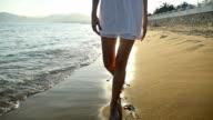 Sunset sensual walking video