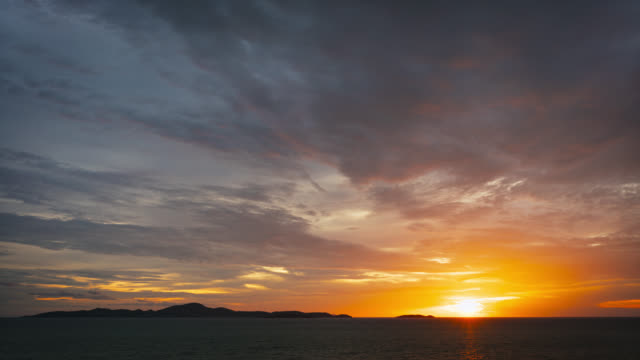 Sunset. Sun. Timelapse video